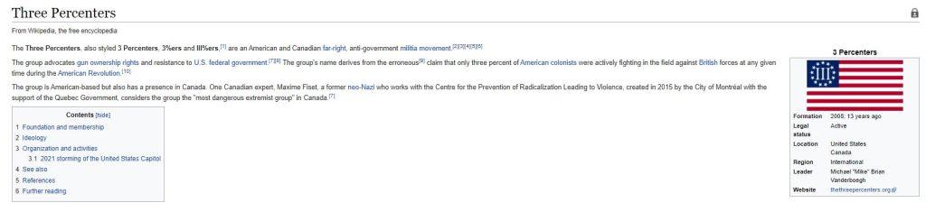 Three Percenters wiki page.